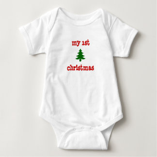 """my 1st christmas"" onsie with tree baby bodysuit"