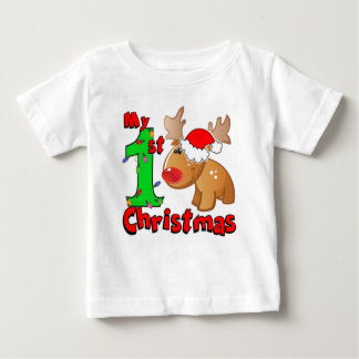 My 1st Christmas Reindeer Baby T-Shirt