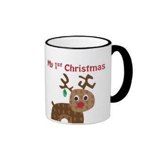 My 1st Christmas - Reindeer Ringer Mug