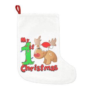 My 1st Christmas Reindeer Small Christmas Stocking