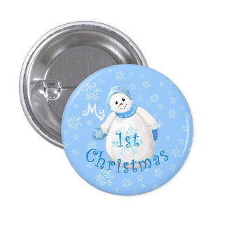 My 1st Christmas Snowman 3 Cm Round Badge