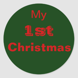 My 1st Christmas Sticker First Baby Clothing Round