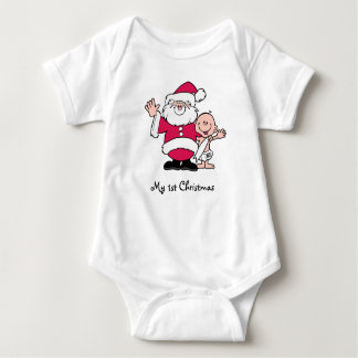 My 1st Christmas with Santa Baby Bodysuit