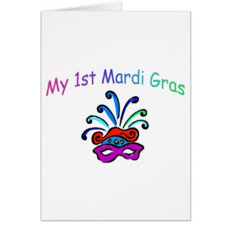 My 1st Mardi Gras Greeting Card