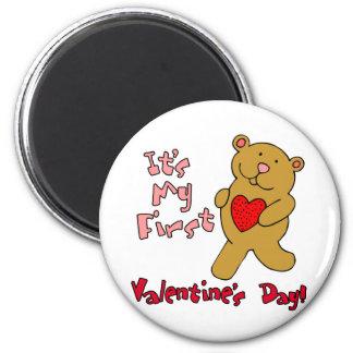 My 1st Valentine's Day 6 Cm Round Magnet
