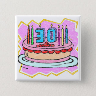 My 30th Birthday Gifts 15 Cm Square Badge