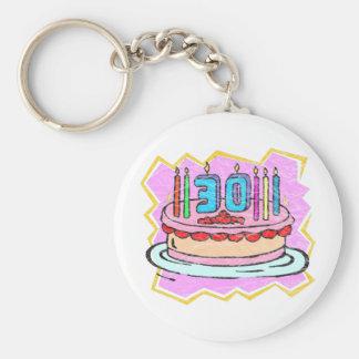 My 30th Birthday Gifts Key Ring