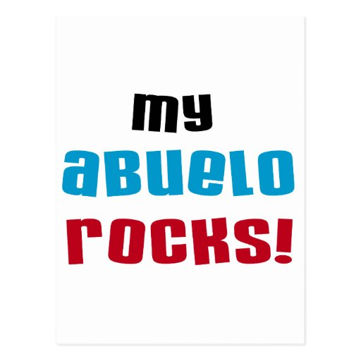 My Abuelo Rocks T-shirts and Gifts Post Cards