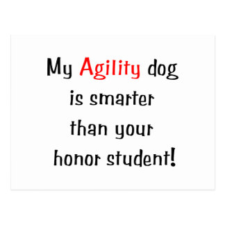 My Agility Dog is Smarter Post Card
