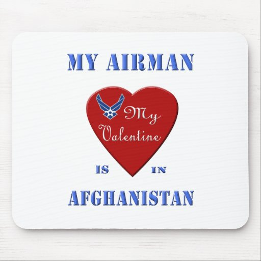 My Airman, My Valentine Mouse Pad
