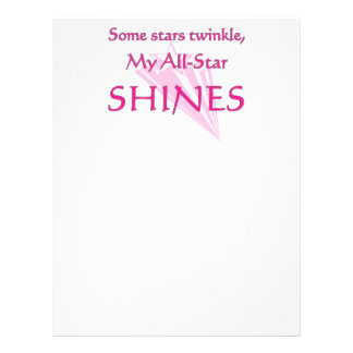 My all-star shines: Proud parent of an all-star Full Color Flyer