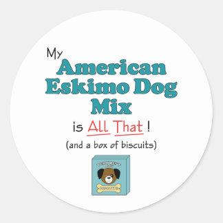 My American Eskimo Dog is All That! Round Sticker