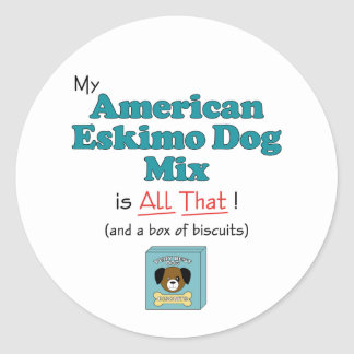 My American Eskimo Dog is All That! Stickers