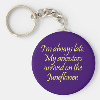 My ancestors came over on the Juneflower Basic Round Button Key Ring