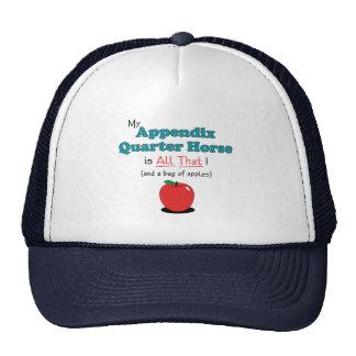 My Appendix Quarter Horse is All That! Funny Horse Cap