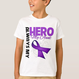 My Aunt Always My Hero - Purple Ribbon T-Shirt