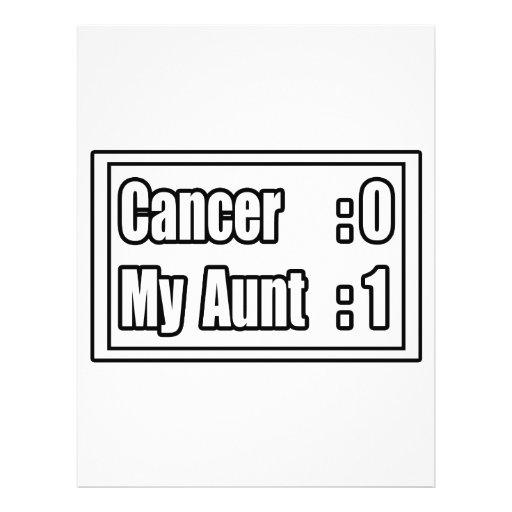 My Aunt Beat Cancer (Scoreboard) Flyer