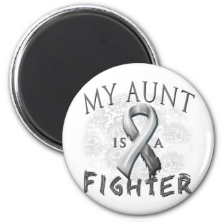 My Aunt Is A Fighter Grey Magnet