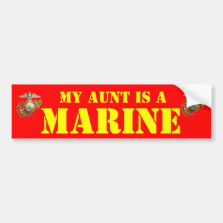 MY AUNT IS A MARINE BUMPER STICKER