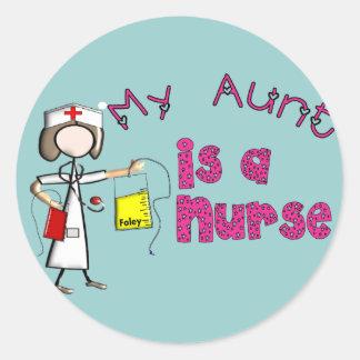 """""""My Aunt is a Nurse"""" Kids T-Shirts Round Sticker"""