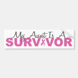 My Aunt Is A Survivor (Breast Cancer Pink Ribbon) Bumper Sticker