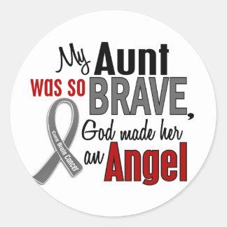 My Aunt Is An Angel 1 Brain Cancer Round Stickers