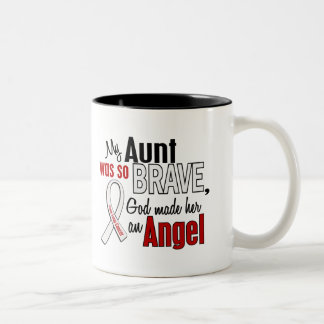 My Aunt Is An Angel Lung Cancer Coffee Mugs