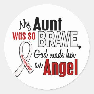 My Aunt Is An Angel Lung Cancer Round Sticker