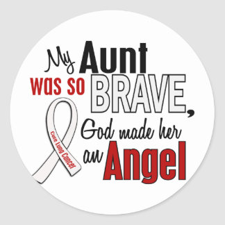 My Aunt Is An Angel Lung Cancer Classic Round Sticker