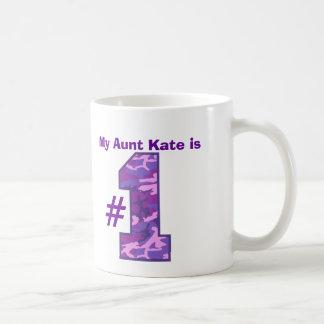 My AUNT is Number One Custom Name Purple Camo v1 Basic White Mug