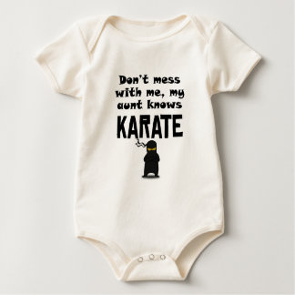 My Aunt Knows Karate Baby Bodysuit