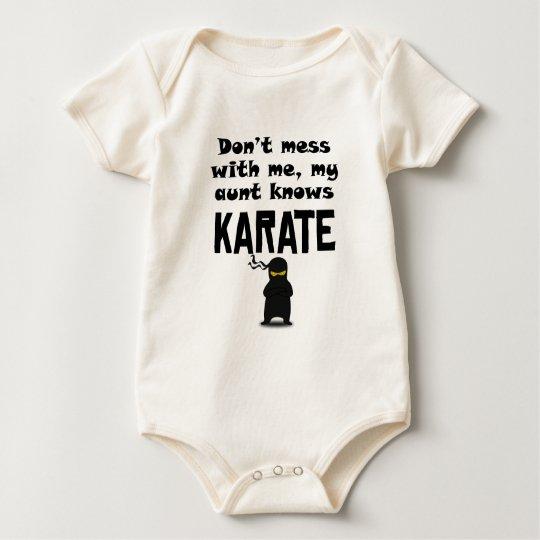 My Aunt Knows Karate Baby Bodysuit