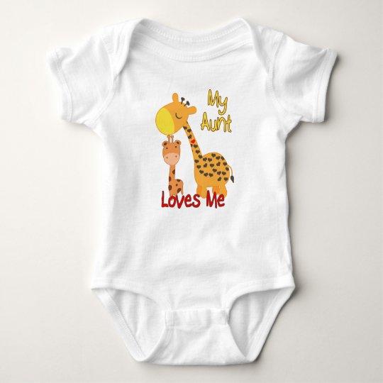 My Aunt Loves Me Giraffe Baby Bodysuit