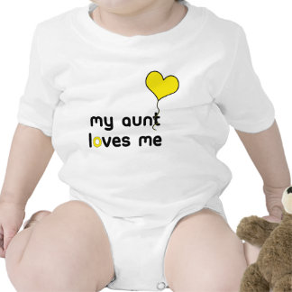 My Aunt loves me yellow Heart Balloon Creeper