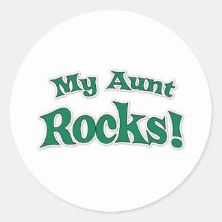 My Aunt Rocks! Round Sticker