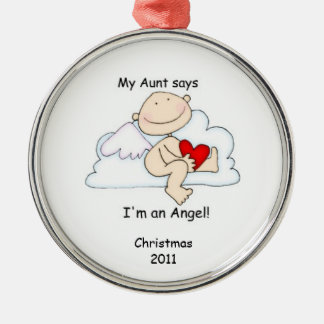 My Aunt says I'm an Angel! Christmas Ornament