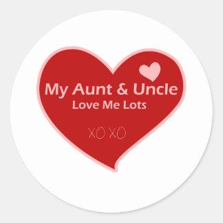 My Aunt & Uncle Love Me Round Sticker
