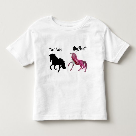 My Aunt Your Toddler Shirt Unicorn Pink