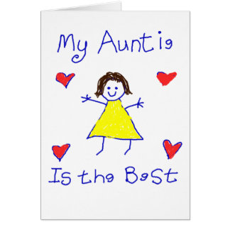 My Auntie is the Best Greeting Card