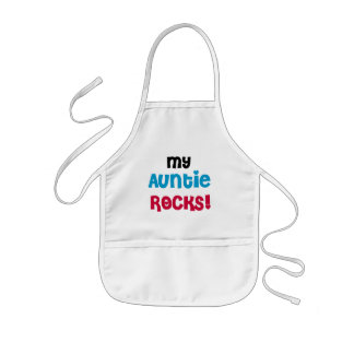 My Auntie Rocks Tshirts and Gifts Kids Apron