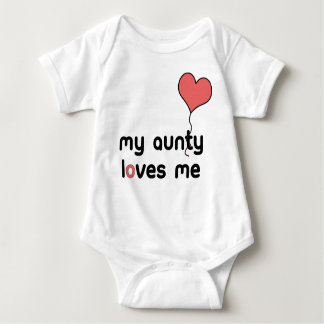 My Aunty loves me Red Heart Balloon Baby Bodysuit