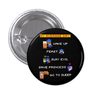 My Average Day (8-bit RPG) 3 Cm Round Badge