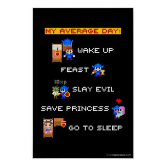 My Average Day (8-bit RPG) Poster