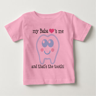 My Baba Loves Me Tooth Baby T-Shirt