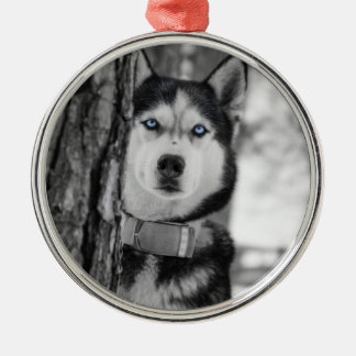My Baby Blue Eyes Silver-Colored Round Decoration