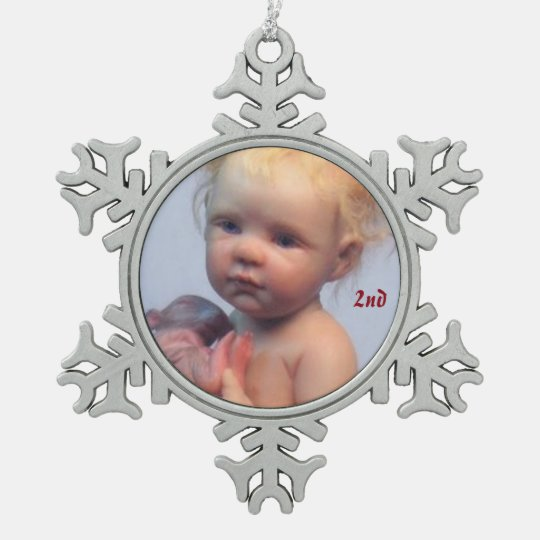 My Baby Mouse Snowflake Pewter Christmas Ornament