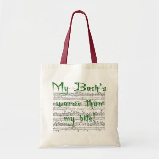 My Bach's Worse than my Bite Budget Tote Bag