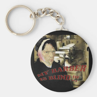 my barber is blind basic round button key ring