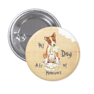 My Basenji Ate My Homework 3 Cm Round Badge