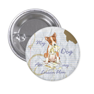 My Basenji Ate My Lesson Plan 3 Cm Round Badge